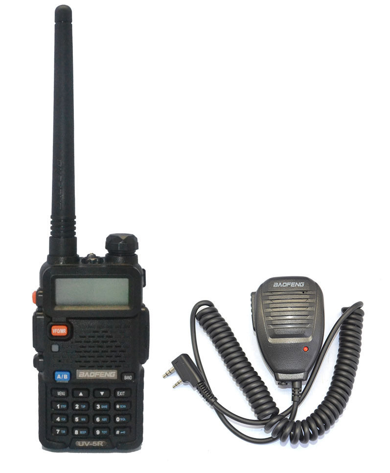 BAOFENG UV-5R UU 136-174/400-520 MHz Dual-Band Walkie Talkies + Marka baofeng MIC