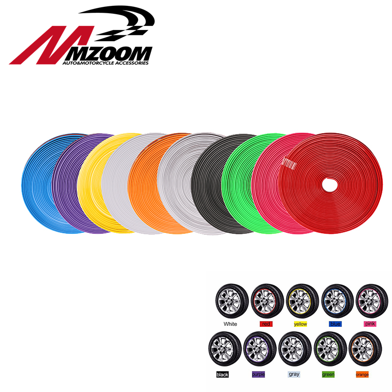 8m car styling Tire Tyre Rim care protector Hub Wheel Stickers strip for BMW volkswagen VW golf 4 Opel astra Toyota accessories